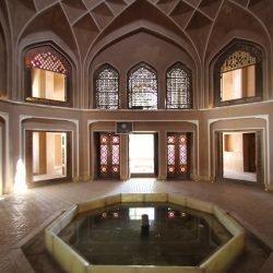 باغ دولت آباد یزد، نمایی از داخل عمارت